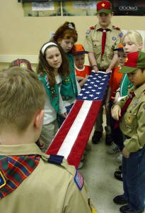 Boy Scouts, Girl Scouts, and Cub Scouts
